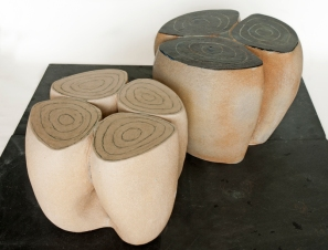 garden seat, contemporary garden ceramics