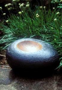 contemporary garden ceramics, bird bath