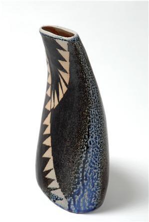 Geometric Vessel, Bunting, Handmade Pottery, Hanne Westergaard