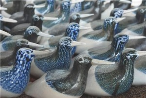Flock of Birds, pottery, Hanne Westergaard