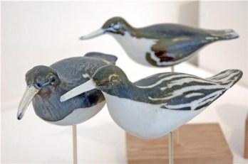 Ceramic birds, Waders, Hanne Westergaard