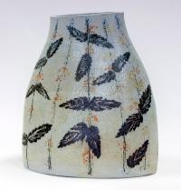handmade vase, nettles