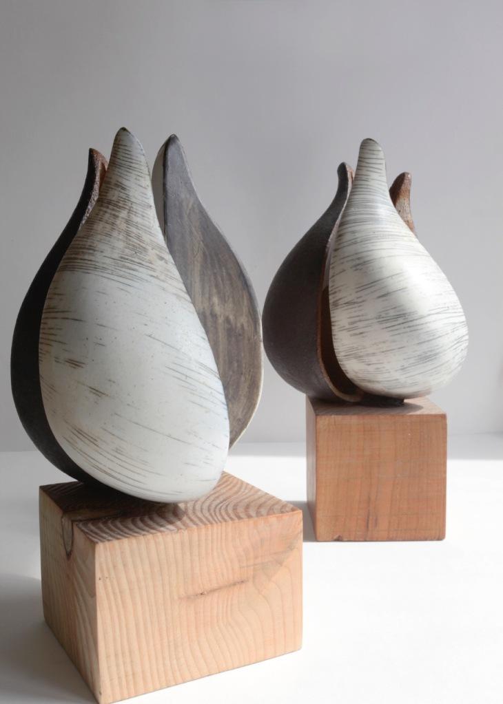 contemporary ceramics, ceramics sheffield, ceramic seed pods