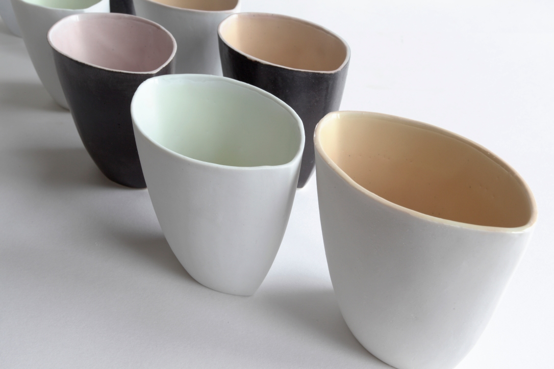 contemporary ceramics, ceramics sheffield, colour block ceramics, ceramic vases,