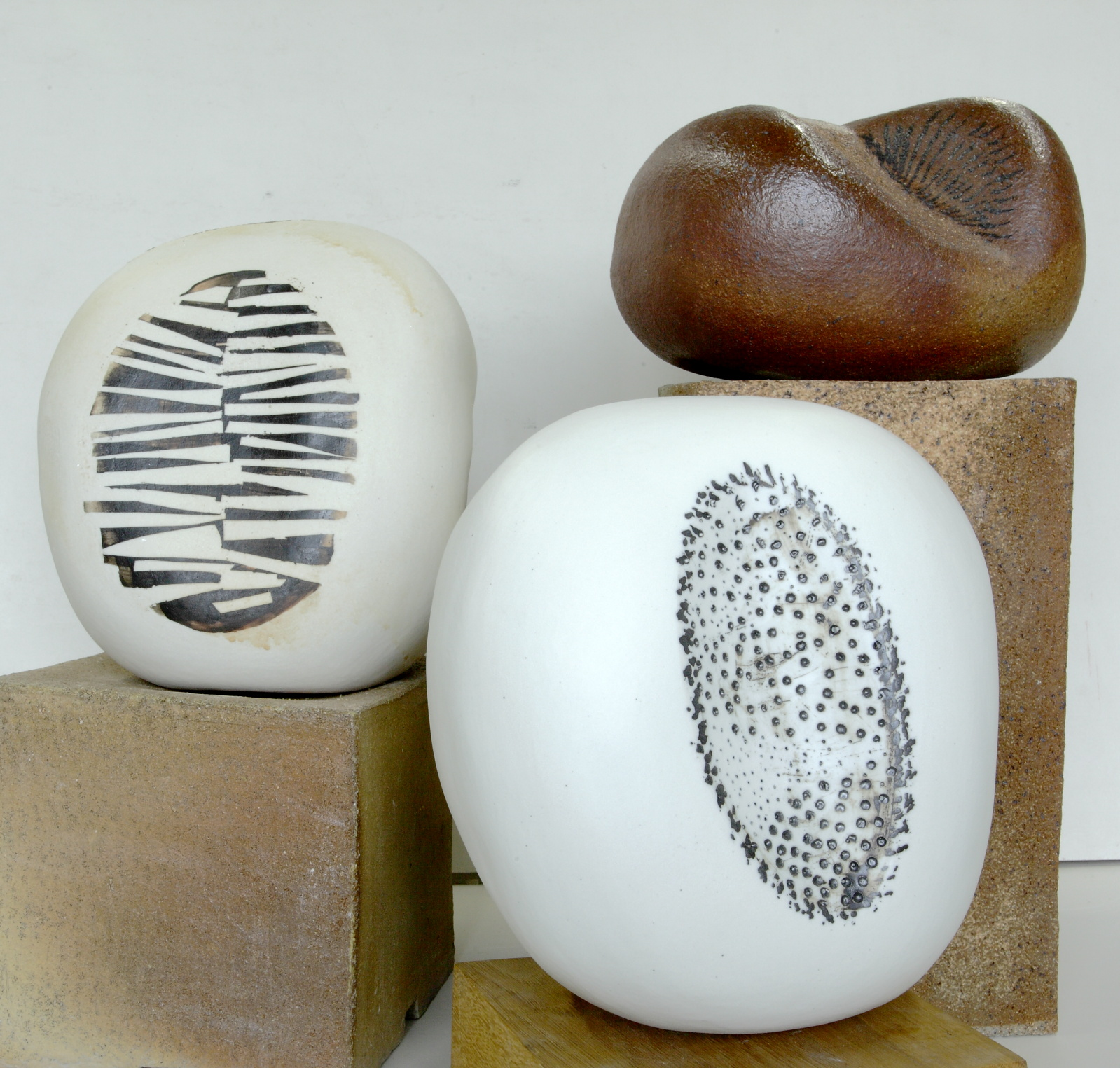 Pots by Hanne Westergaard for thee Urban Joy exhibition at Yorkshire Artspace Sheffield